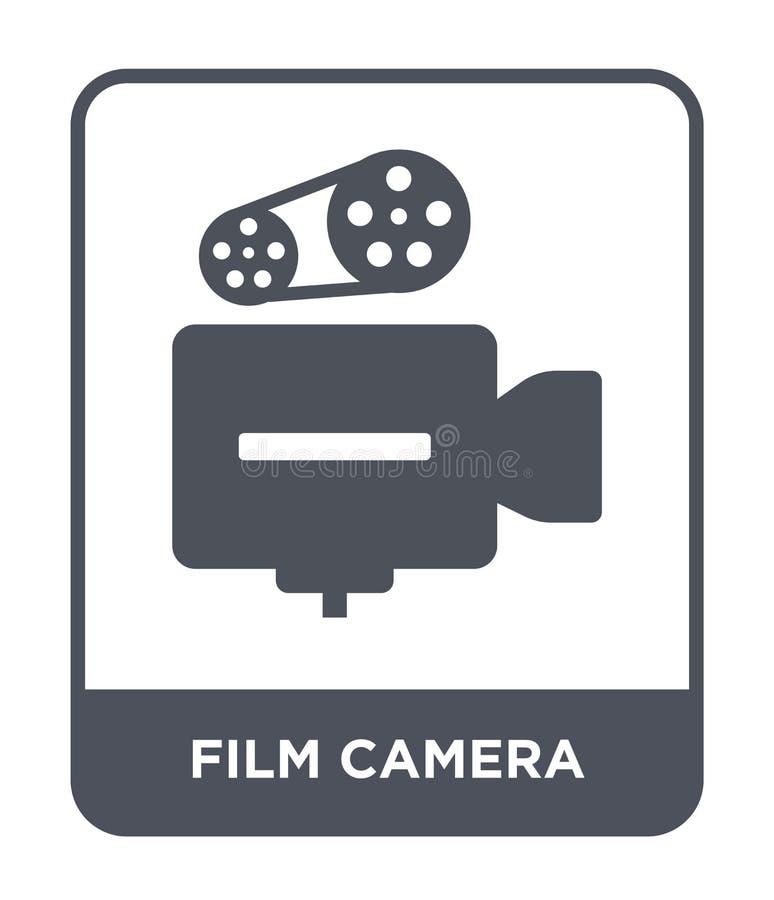 在时髦设计样式的胶卷相机象 在白色背景隔绝的胶卷相机象 胶卷相机现代传染媒介的象简单和 库存例证