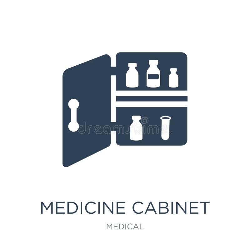 在时髦设计样式的药柜象 在白色背景隔绝的药柜象 药柜传染媒介象 皇族释放例证