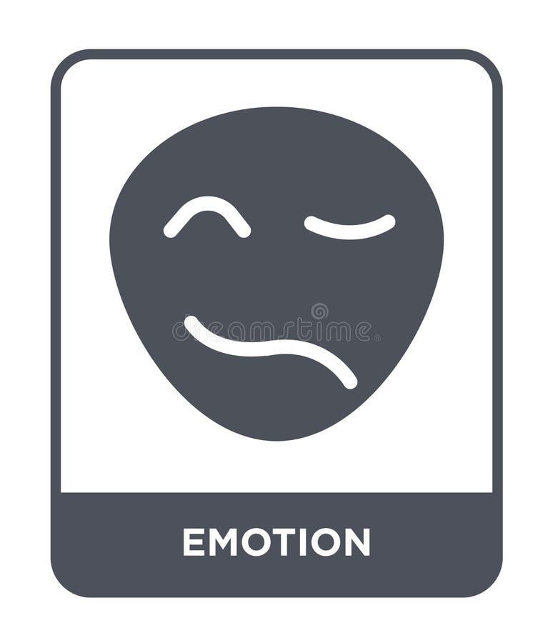 在时髦设计样式的表情符号 在白色背景隔绝的表情符号 情感传染媒介象简单和现代平的标志 皇族释放例证