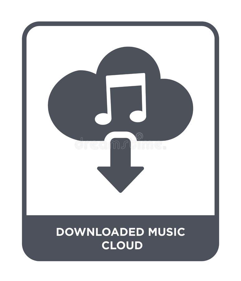 在时髦设计样式的被下载的音乐云彩象 在白色背景隔绝的被下载的音乐云彩象 被下载的音乐 向量例证