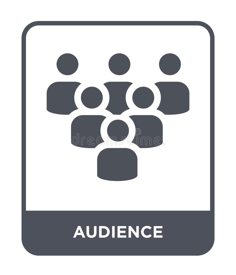 在时髦设计样式的观众象 在白色背景隔绝的观众象 观众传染媒介象简单和现代舱内甲板 皇族释放例证