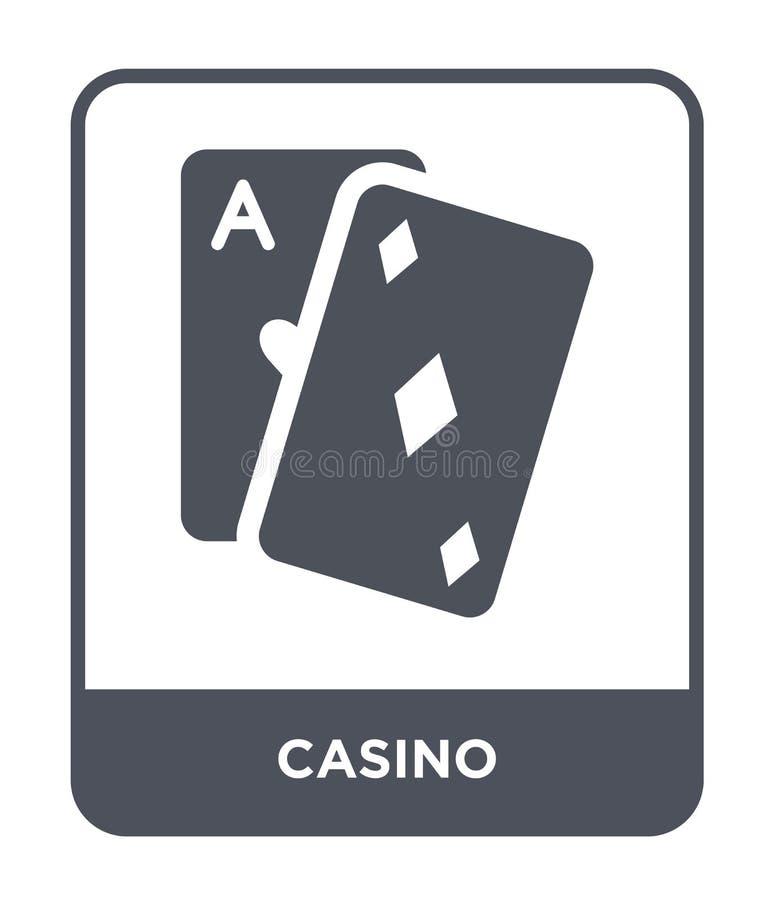 在时髦设计样式的赌博娱乐场象 在白色背景隔绝的赌博娱乐场象 赌博娱乐场传染媒介象简单和现代平的标志为 皇族释放例证