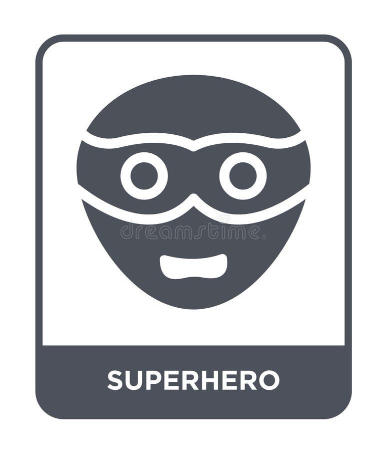 在时髦设计样式的超级英雄象 在白色背景隔绝的超级英雄象 超级英雄传染媒介象简单和现代舱内甲板 库存例证