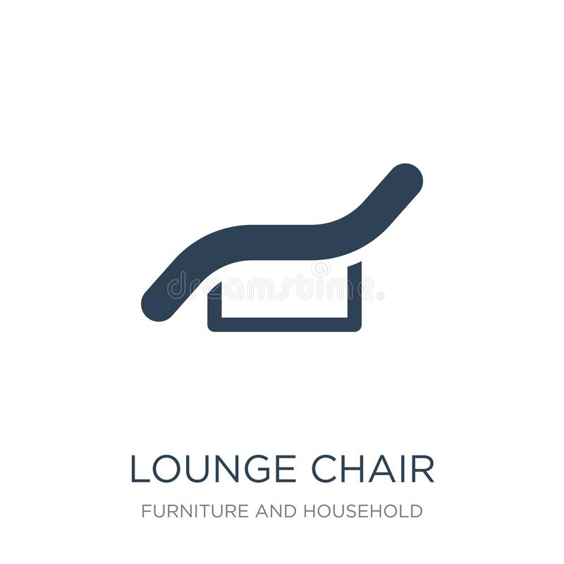 在时髦设计样式的躺椅象 在白色背景隔绝的躺椅象 躺椅简单传染媒介的象和 皇族释放例证