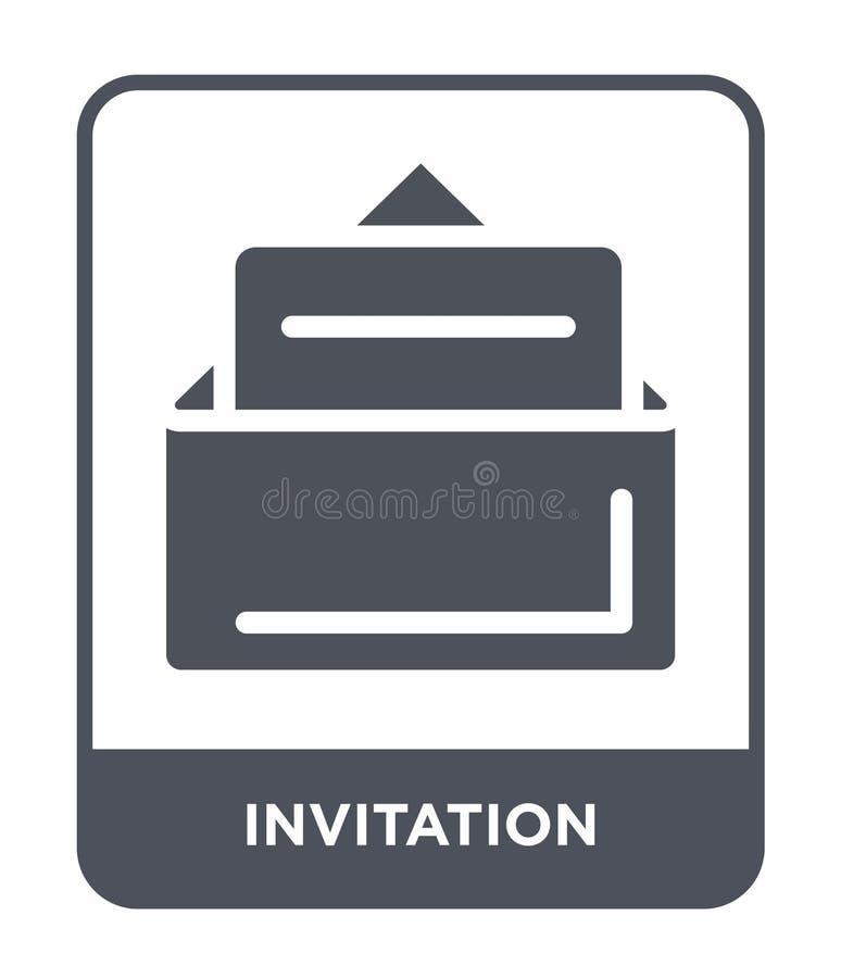 在时髦设计样式的邀请象 在白色背景隔绝的邀请象 邀请现代传染媒介的象简单和 向量例证
