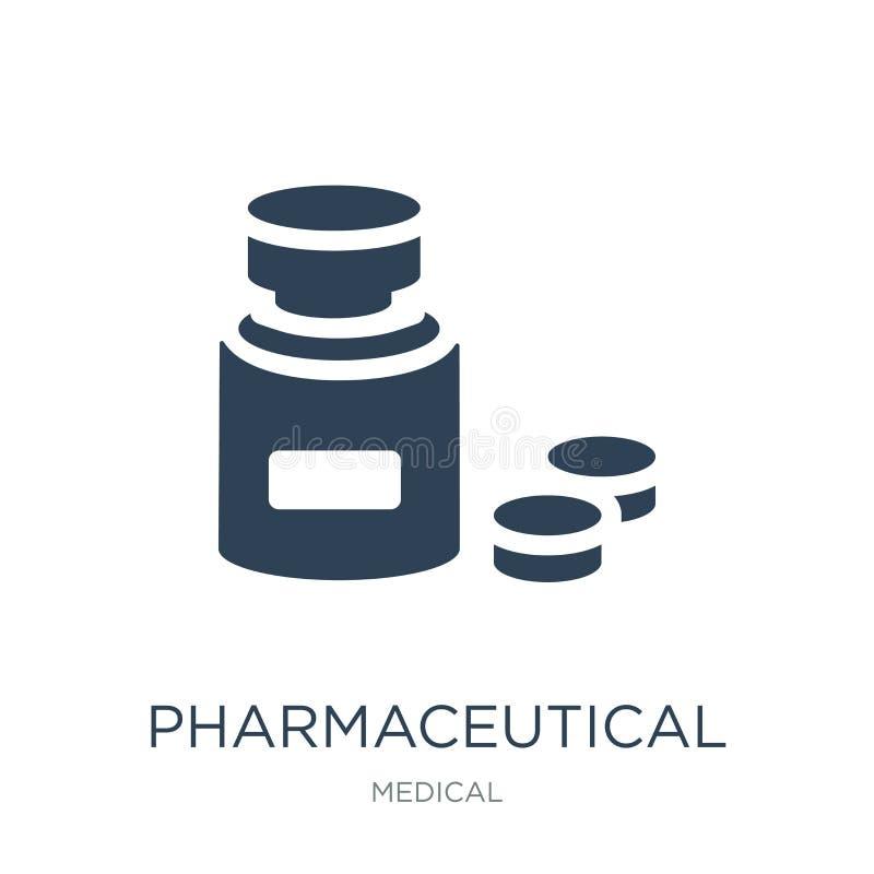 在时髦设计样式的配药象 在白色背景隔绝的配药象 简单配药传染媒介的象 皇族释放例证