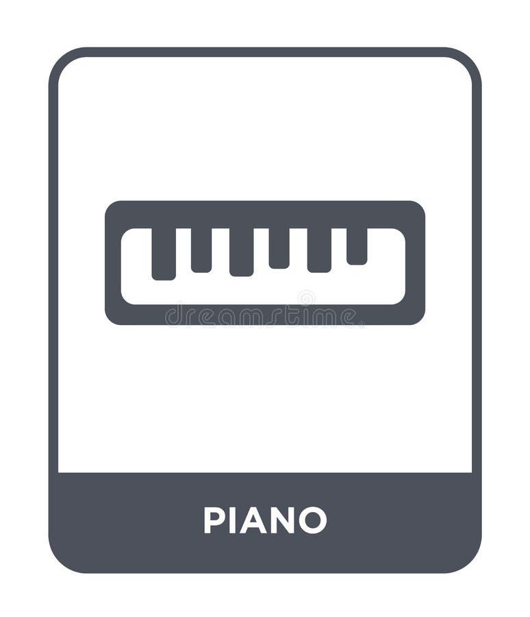 在时髦设计样式的钢琴象 在白色背景隔绝的钢琴象 钢琴传染媒介象简单和现代平的标志为 皇族释放例证