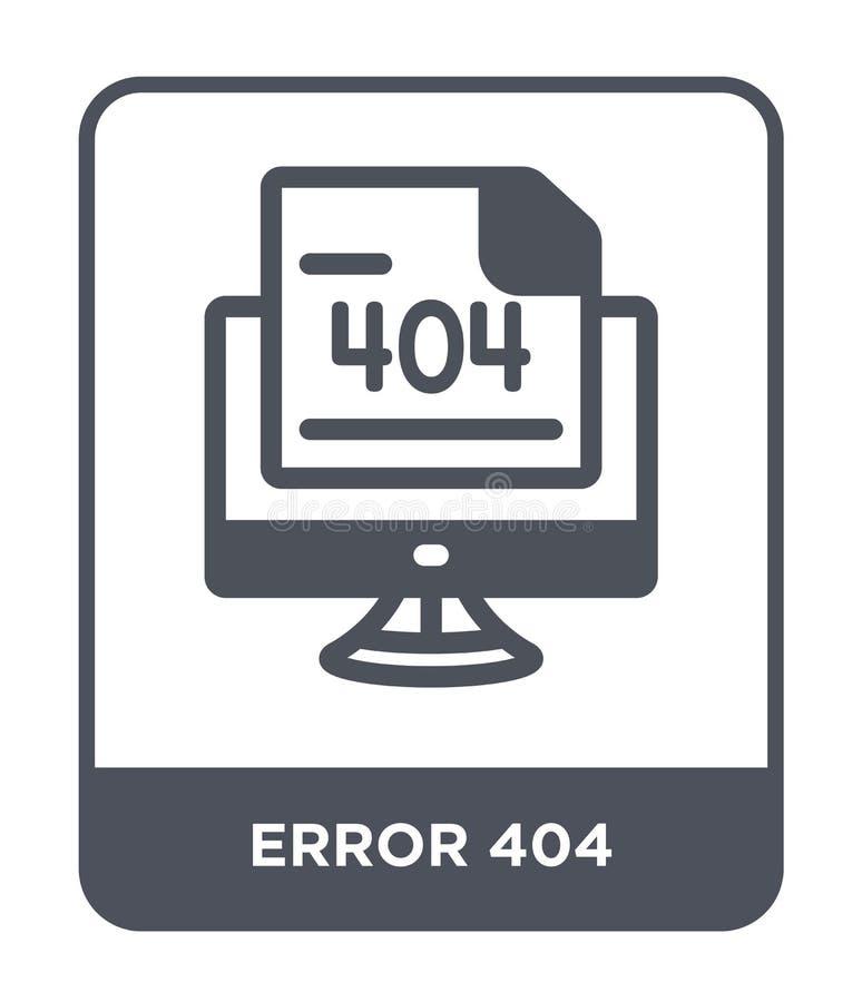 在时髦设计样式的错误404象 在白色背景隔绝的错误404象 错误404传染媒介象简单和现代舱内甲板 向量例证