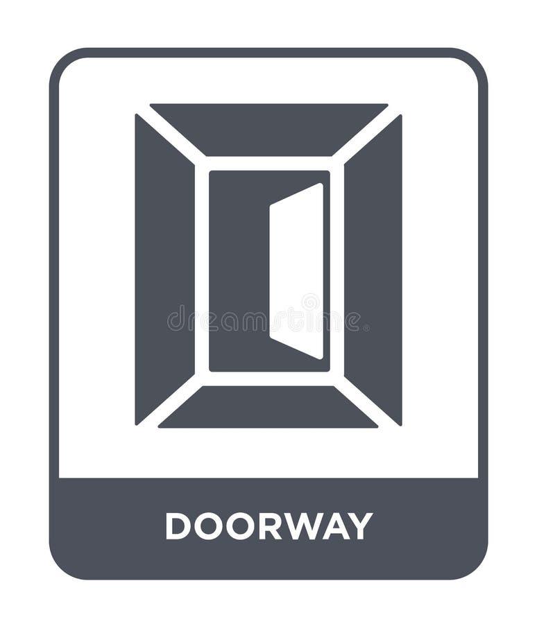 在时髦设计样式的门道入口象 在白色背景隔绝的门道入口象 门道入口传染媒介象简单和现代平的标志 库存例证