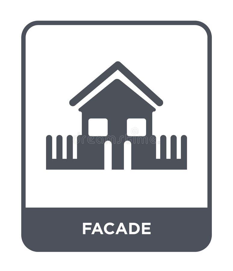 在时髦设计样式的门面象 在白色背景隔绝的门面象 门面传染媒介象简单和现代平的标志为 皇族释放例证