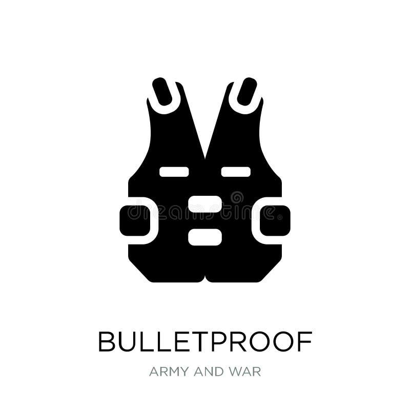 在时髦设计样式的防弹象 在白色背景隔绝的防弹象 现代防弹传染媒介的象简单和 向量例证