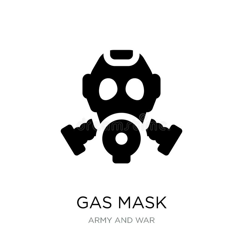 在时髦设计样式的防毒面具象 在白色背景隔绝的防毒面具象 防毒面具传染媒介象简单和现代舱内甲板 库存例证