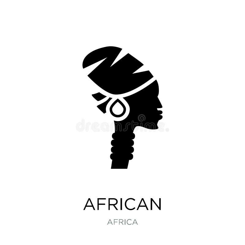 在时髦设计样式的非洲象 在白色背景隔绝的非洲象 非洲传染媒介象简单和现代平的标志 皇族释放例证
