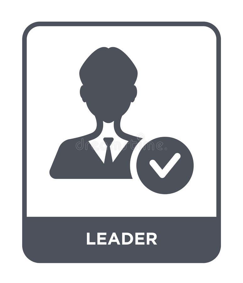 在时髦设计样式的领导象 在白色背景隔绝的领导象 领导传染媒介象简单和现代平的标志为 库存例证