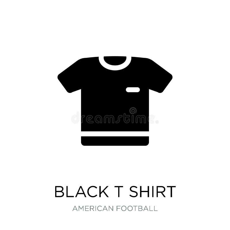 在时髦设计样式的黑T恤杉布料象 在白色背景隔绝的黑T恤杉布料象 黑T恤杉布料传染媒介 皇族释放例证