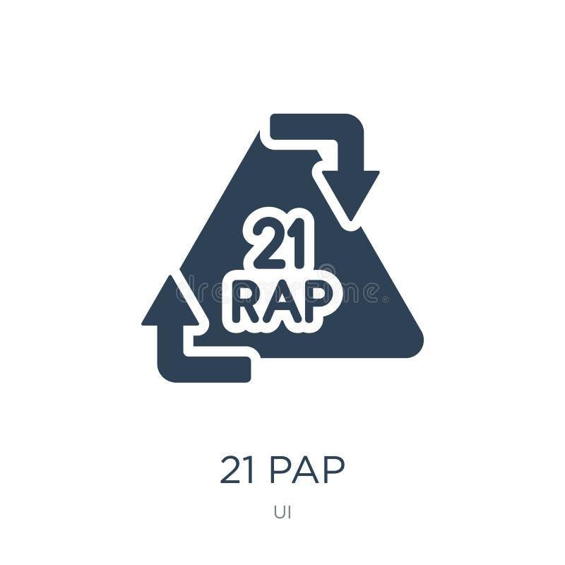 在时髦设计样式的21 pap象 在白色背景隔绝的21 pap象 21 pap传染媒介象简单和现代平的标志为 皇族释放例证