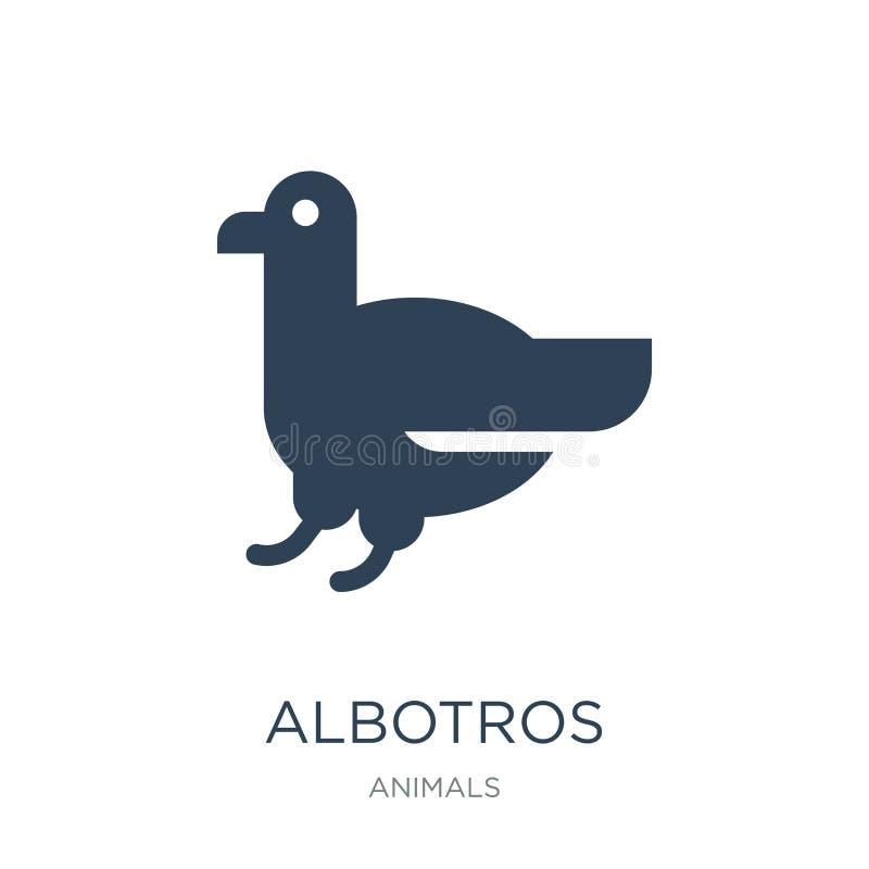 在时髦设计样式的albotros象 在白色背景隔绝的albotros象 albotros传染媒介象简单和现代舱内甲板 库存例证