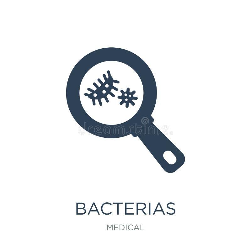 在时髦设计样式的bacterias象 在白色背景隔绝的bacterias象 bacterias传染媒介象简单和现代舱内甲板 向量例证