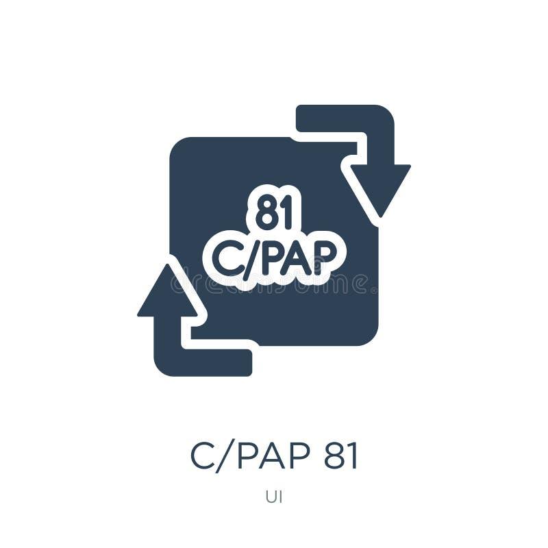 在时髦设计样式的c/pap 81象 c/pap 81象在白色背景隔绝了 c/pap 81传染媒介象简单和现代舱内甲板 皇族释放例证