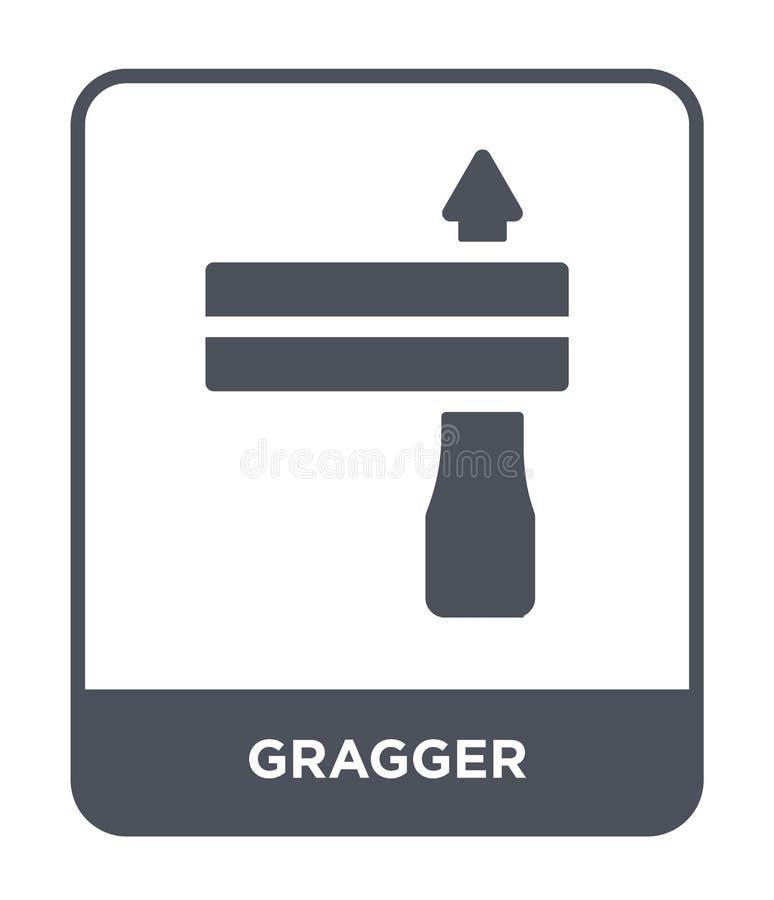 在时髦设计样式的gragger象 在白色背景隔绝的gragger象 gragger传染媒介象简单和现代平的标志 向量例证