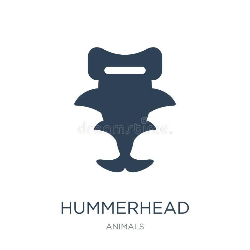 在时髦设计样式的hummerhead象 在白色背景隔绝的hummerhead象 hummerhead现代传染媒介的象简单和 皇族释放例证
