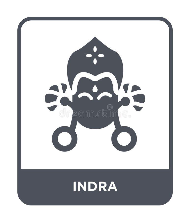在时髦设计样式的indra象 在白色背景隔绝的indra象 indra传染媒介象简单和现代平的标志为 皇族释放例证