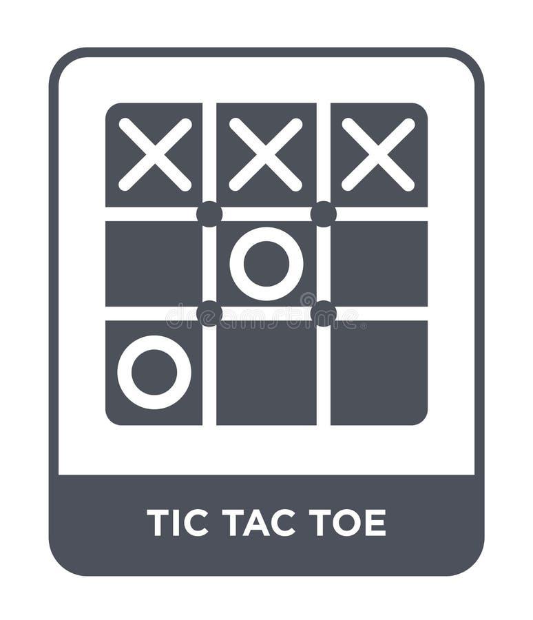 在时髦设计样式的tic TAC脚趾象 在白色背景隔绝的tic TAC脚趾象 现代tic TAC脚趾传染媒介的象简单和 库存例证