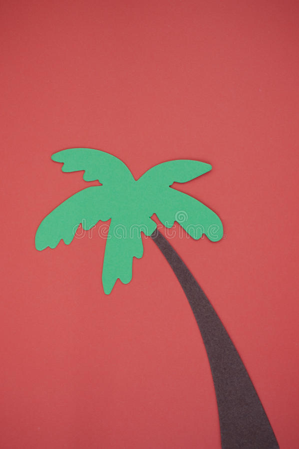 在明亮的作图纸删去的棕榈树 免版税图库摄影
