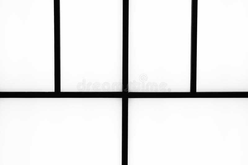 在明亮的白色背景, m的抽象几何黑条纹 免版税库存图片