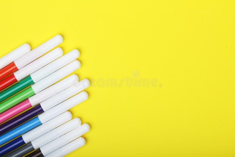 在明亮的背景的多彩多姿的标志 免版税图库摄影