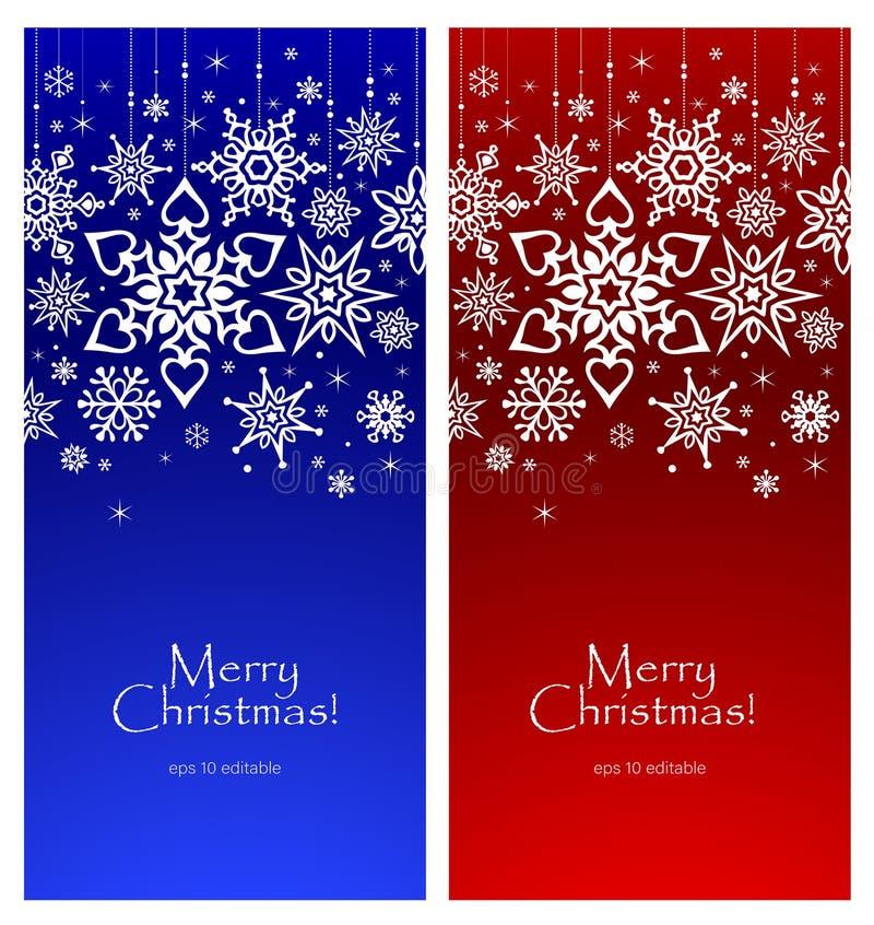 在明亮的背景,圣诞卡片的模板的白色雪花 免版税库存图片