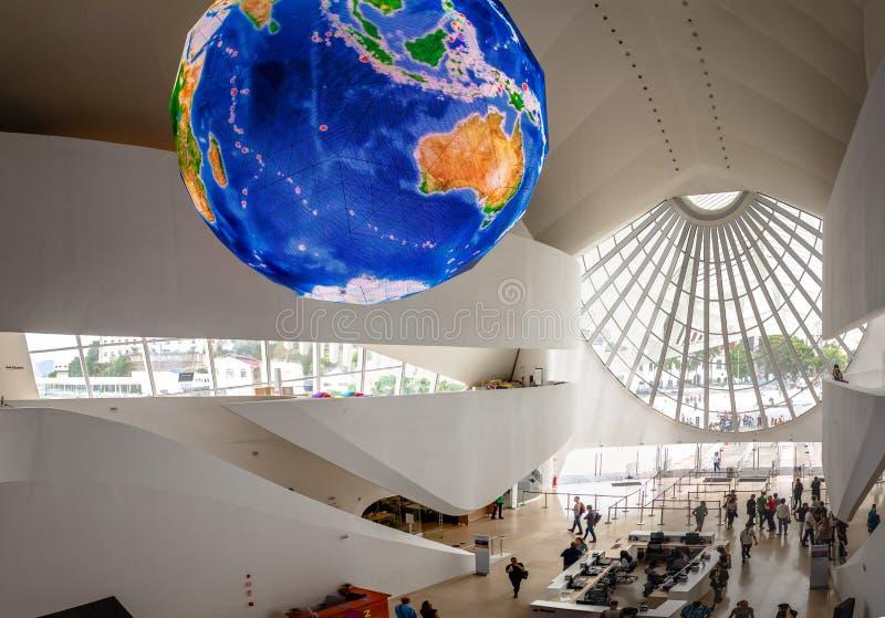在明天博物馆的门厅或Museu做Amanha内部-里约热内卢,巴西 免版税图库摄影