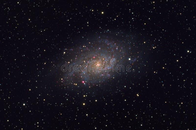 在星座三角星座的更加杂乱的33三角星座星系 免版税库存图片