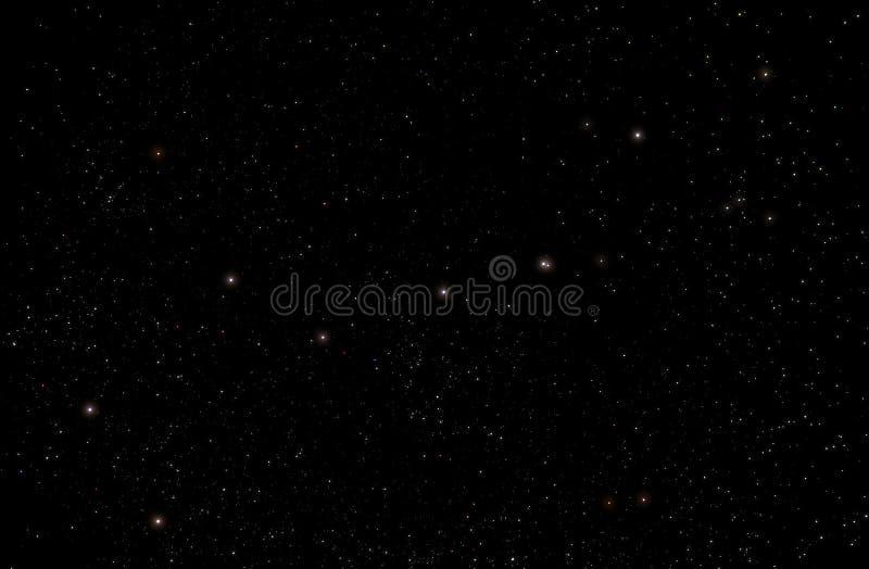 在星座大熊座的七星 免版税库存照片