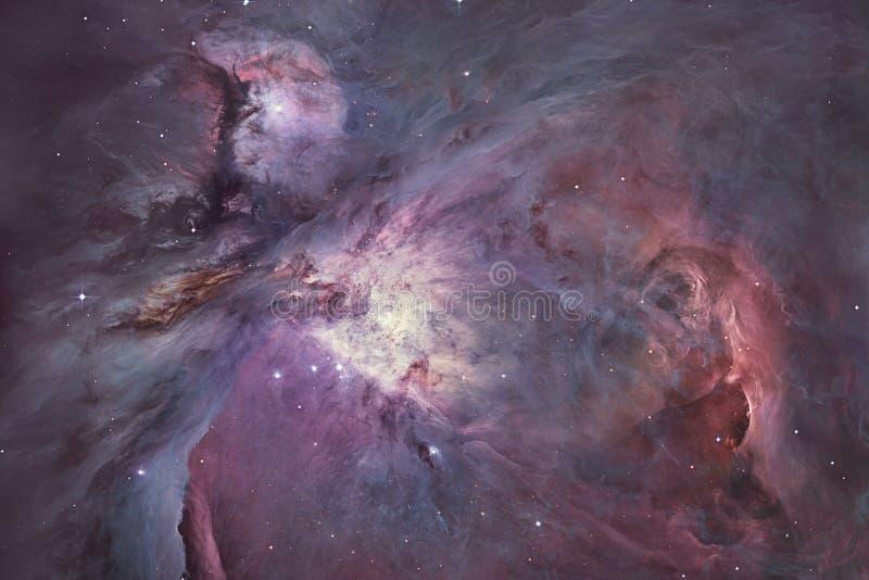 在星座猎户星座的猎户星座星云更加杂乱42弥漫星云 图库摄影