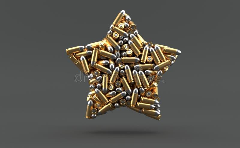 在星形状的弹药 皇族释放例证