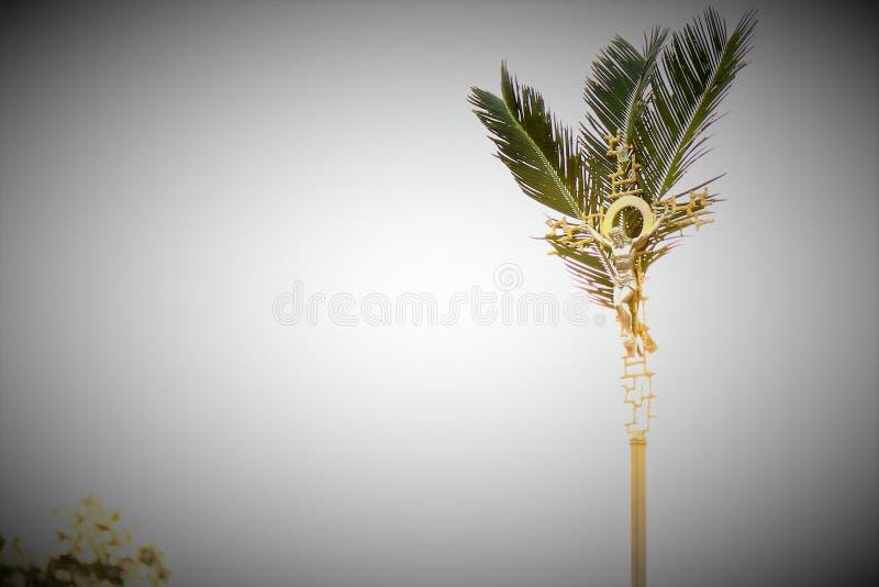 在星期天棕枝全日降临在复活节前 免版税库存照片