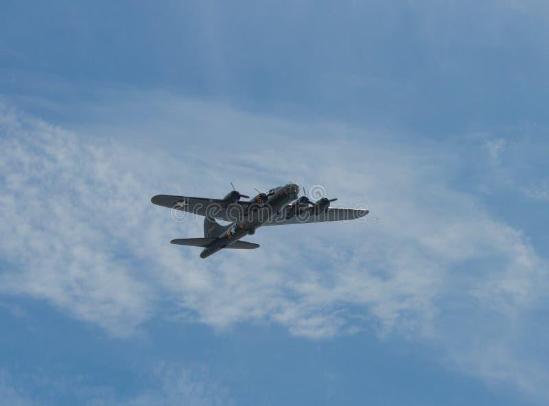 在星期天飞行堡垒威斯顿空气节日威斯顿s母马2014年6月22日 图库摄影