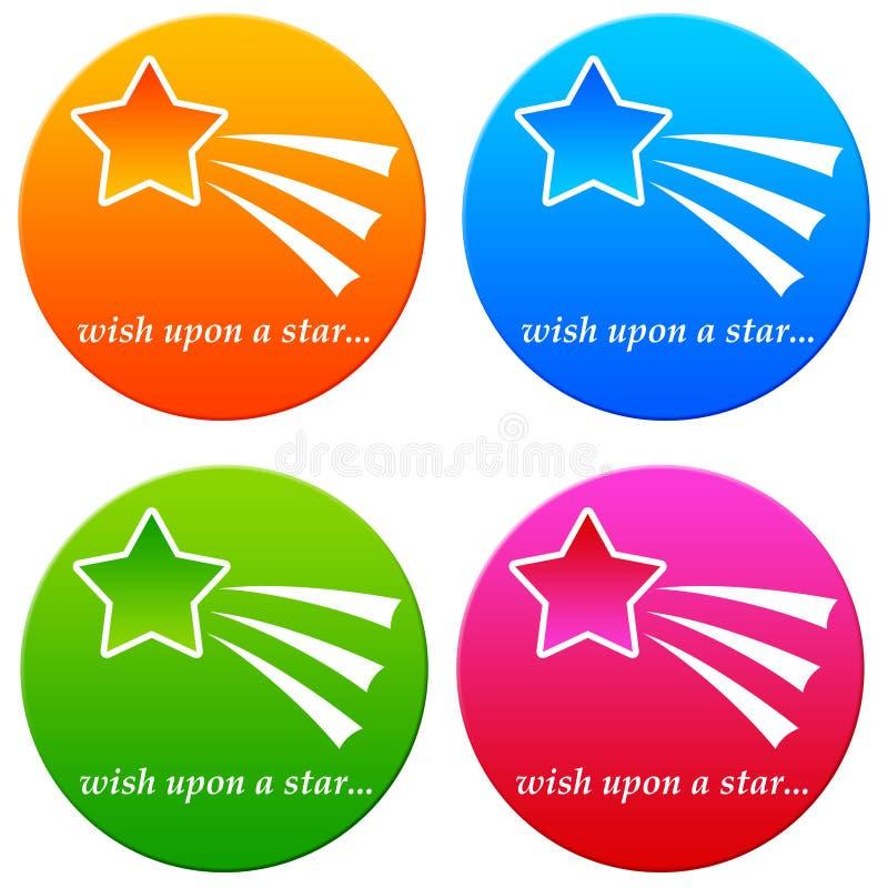 在星的愿望 向量例证