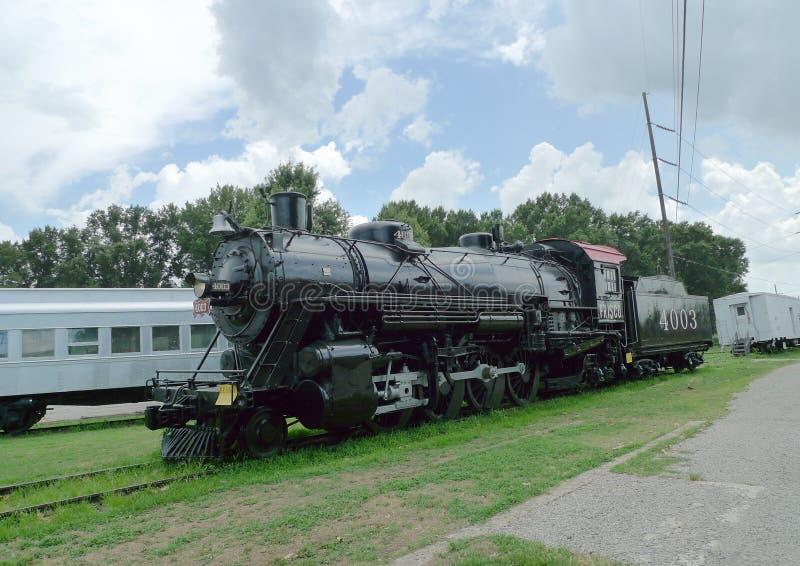 在显示的史密斯堡,阿肯色火车在台车博物馆 库存图片
