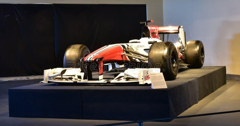 在显示的性感的F1汽车在遗产运输博物馆在古尔冈,哈里亚纳邦印度 免版税库存图片