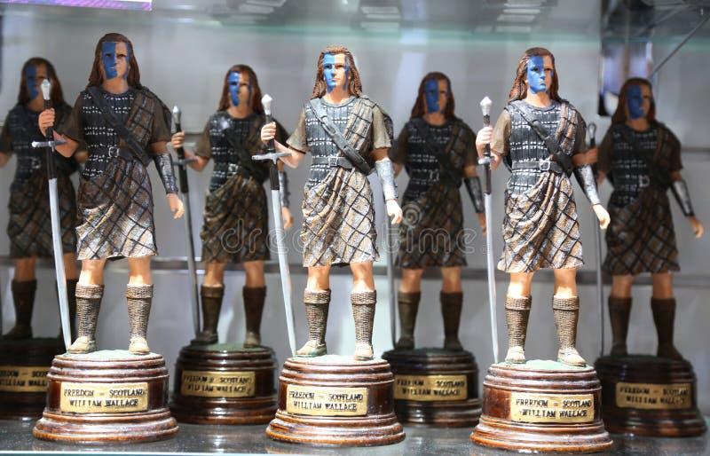 在显示的苏格兰地方纪念品在爱丁堡,苏格兰 库存图片