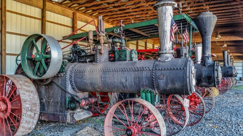 在显示的蒸汽脱粒机 库存图片