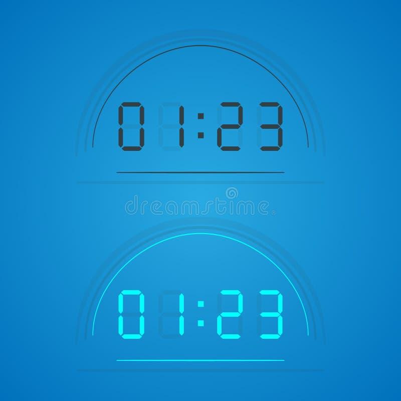在显示的透明时钟 向量 皇族释放例证