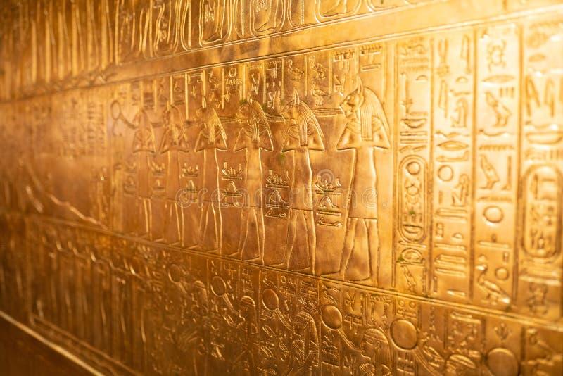 在显示的Tutankhamun Egyptian国王展览在OMSI 库存照片