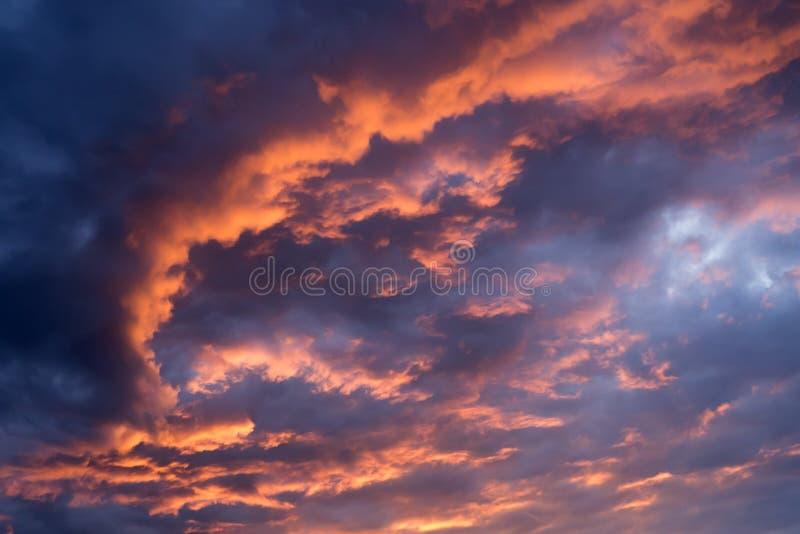 剧烈的天空 库存图片