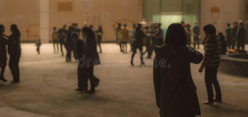 在晚上,街道 免版税库存照片