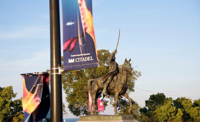 在普利茨克军事博物馆,芝加哥,伊利诺伊的雕象 图库摄影