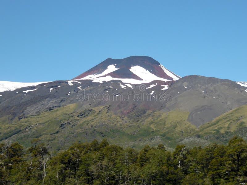 在智利的南部的Mocho火山 免版税库存照片