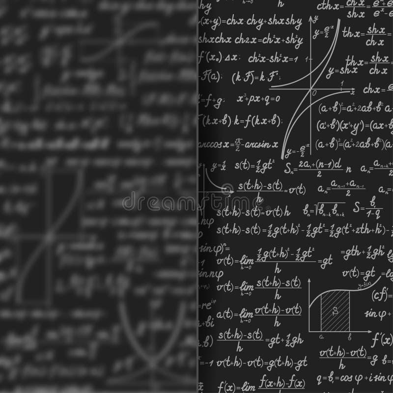 在暗淡玻璃横幅后的抽象算术背景 皇族释放例证